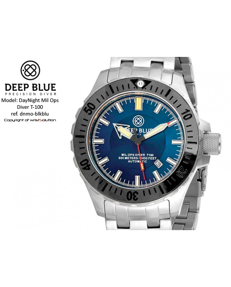Daynight Mil-Ops T-100 (black bezel/blue dial)