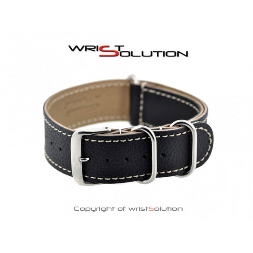 (Stitched Leather) - Black