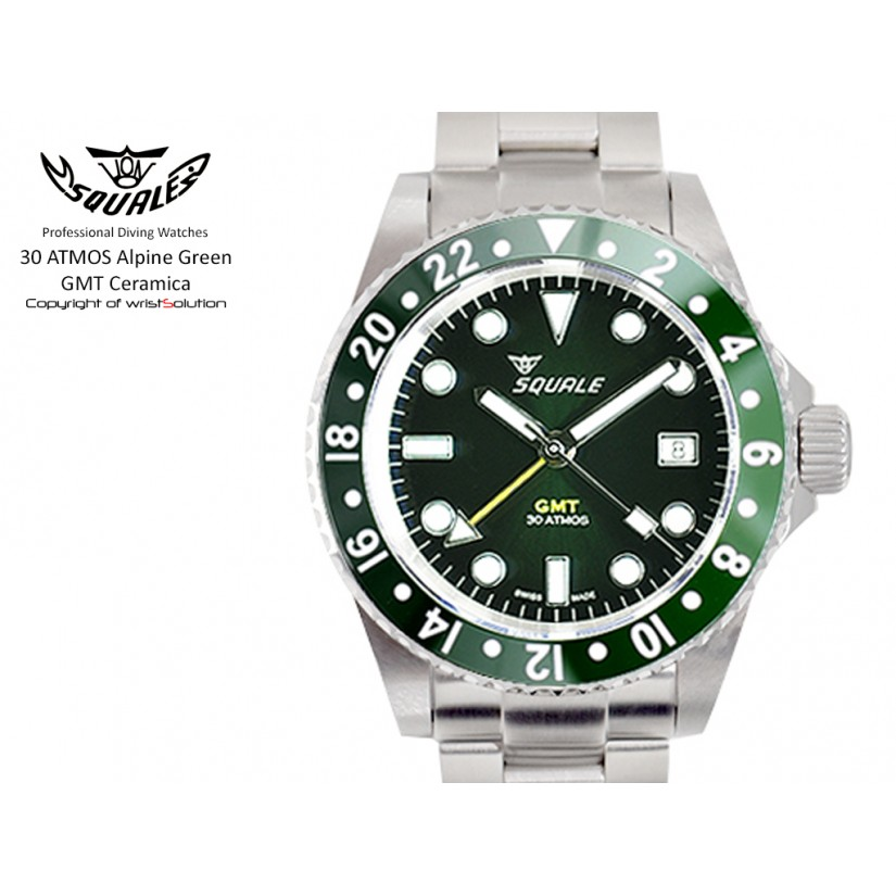30 ATMOS Alpine Green GMT Ceramica