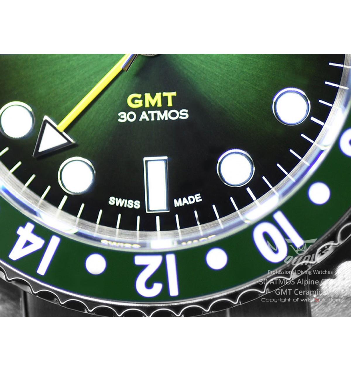 30 ATMOS Alpine Green GMT Ceramica