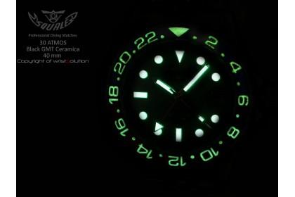 30 ATMOS Black GMT Ceramica 40mm